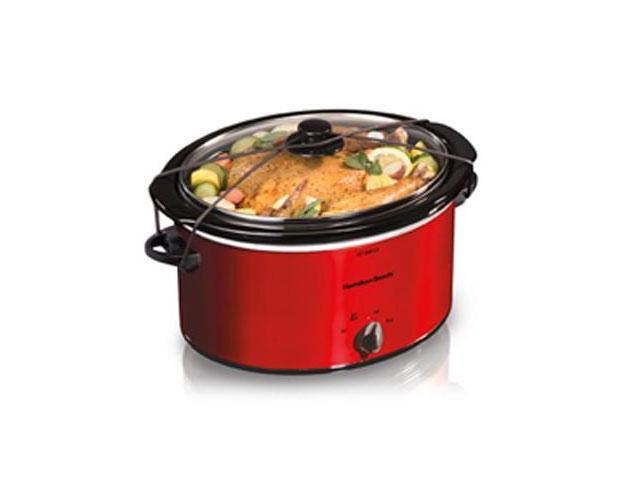 Hamilton Beach 33155 5 qt Slow cooker red