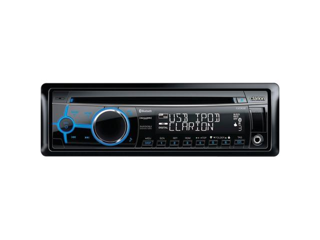 CLARION CZ302 Single-DIN In-Dash CD Receiver with Front USB Port, Bluetooth(R) & SiriusXM(TM)Ready