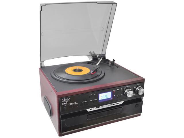 Pyle PTTCDS7U Vintage Styled Mahogany Turntable