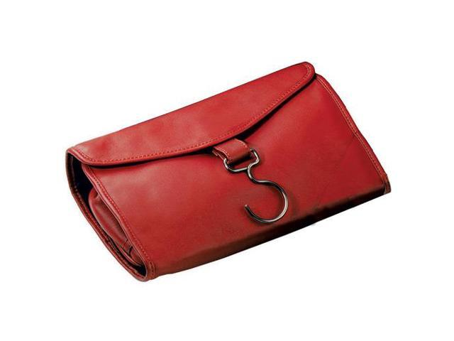 Royce Leather 264-RED-5 Hanging Toiletry Bag