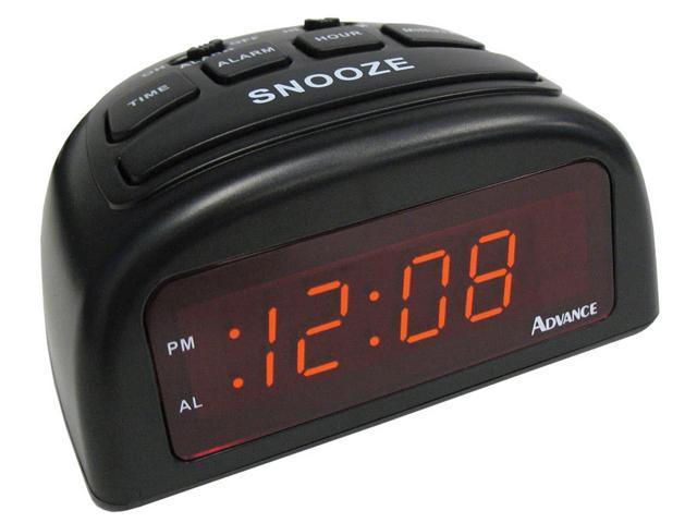 Geneva Clock 3138AT LED Alarm Clock, Black