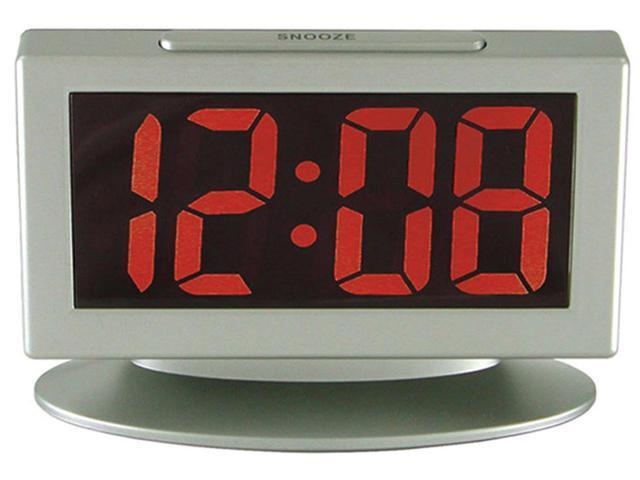 Geneva Clock Company 3112AT Digital LED Alarm Clock, White