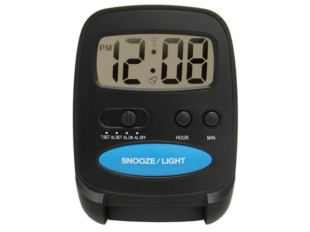 Geneva Clock Company 3502E Black LCD Digital Alarm Clock