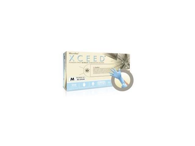 Micro Flex XC310M Xceed Powder-Free Nitrile Exam Gloves, Medium - 250-Pack