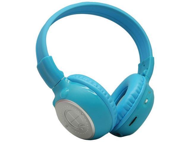 POWER ACOUSTIK Hp-K2B Dual-Channel Collapsible IR Headphones (Blue)