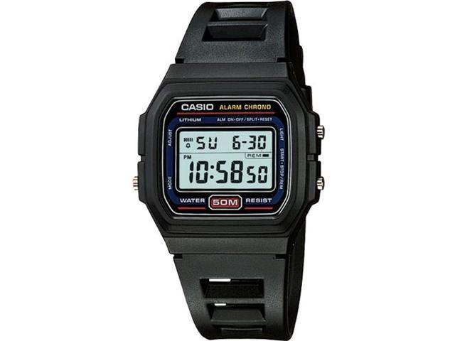Casio W59-1V Classic Digital Sports Watch w/ Daily Alarm, Stopwatch - Black