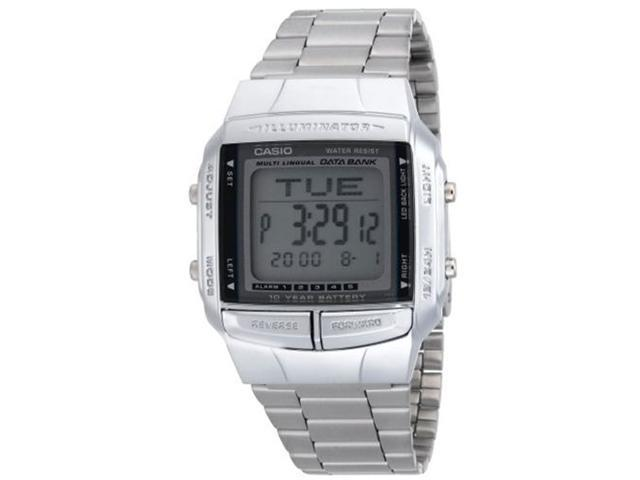 Casio DB-360-1A Stainless Steel Multi-lingual Databank Illuminator Digital Watch