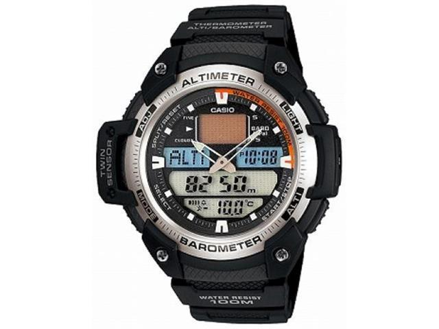 Casio Men's SGW400H-1BV Black Resin Quartz Watch with Grey Dial