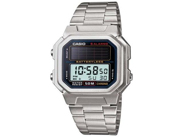 Casio Men's AL-190WD-1AV Solar Powered Stainless Steel Digital Watch