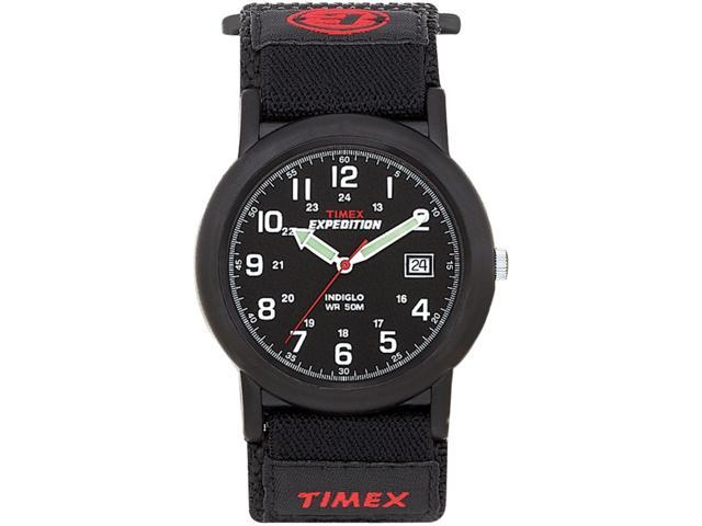 Timex Men's Expedition | Black Fastwrap Dial & Case Luminent Hands Watch T40011
