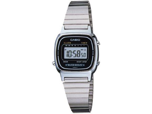 Casio LA670WA-1W Women's Silver Multi-Function Casual Digital Watch