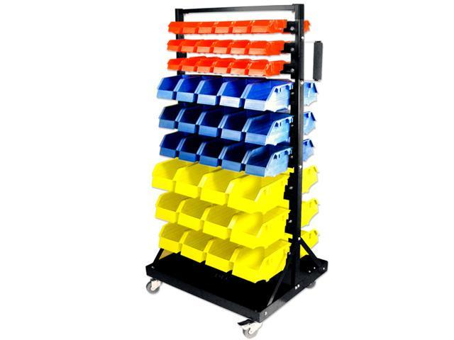 Tooluxe Rolling Parts Cart with 90 Organizer Bins - 450 Lb Capacity