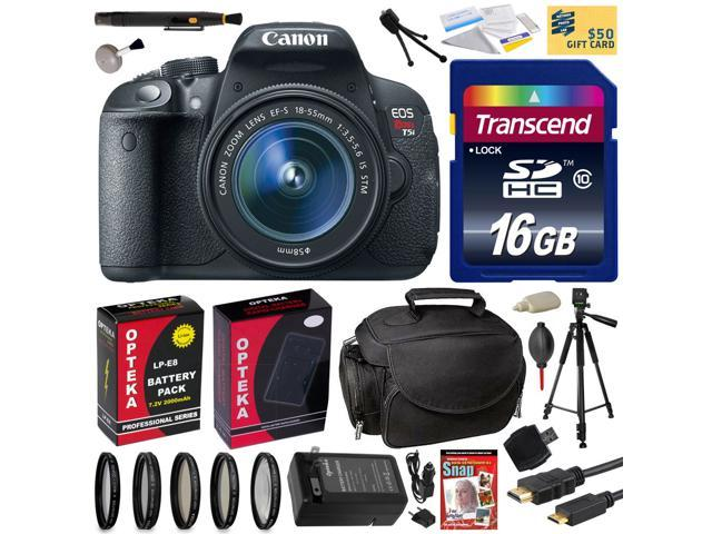 Canon Rebel T5i with 18-55 DSLR SLR Digital Camera (Best Value Bundle Kit ) 8595B003 (16GB SD Card + SD Reader + Soft Case + ...