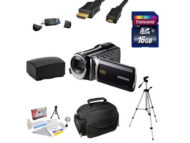 Samsung HMX-F90 HD Camcorder (Black) with 2.7