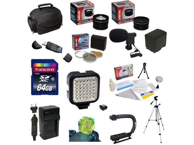 Ultimate Accessory Kit For the Canon Vixia HF G10, HF G20, HF G30, HF S20, HF S21, HF S30, HF S200 Includes 32GB High Speed ...