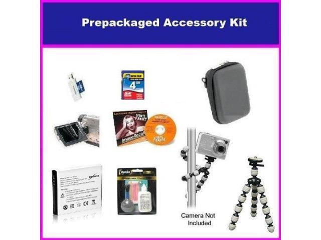 Essential Accessory Package For Canon PowerShot SX210 SD700 IS SD870 IS SD950 IS SD900 Package Includes 4GB High Speed Error Free Memory Card, ...