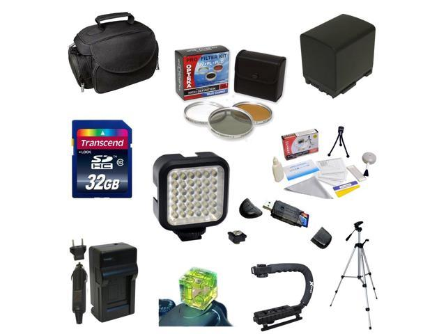 Must Have Accessory Kit For the Canon Vixia HF G10, HF G20, HF G30, HF S20, HF S21, HF S30, HF S200 Includes 32GB High ...