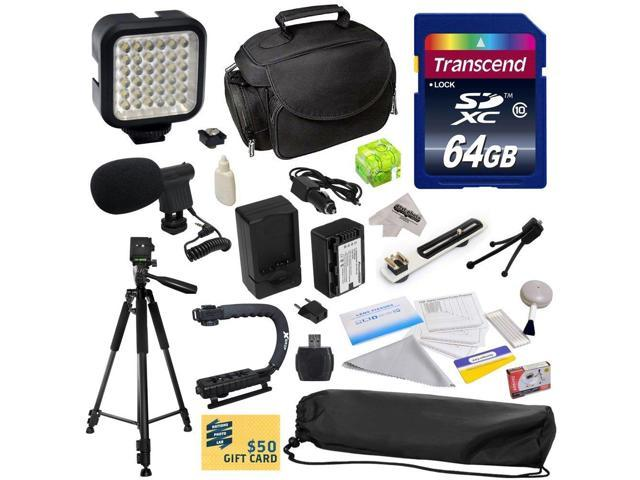 Advanced Accessory Kit for Panasonic HC-V700, HC-V700M, HC-V500, HC-V500M, HC-V100, HC-V100M, HC-V10 Video Camera Camcorder Includes 64GB High ...