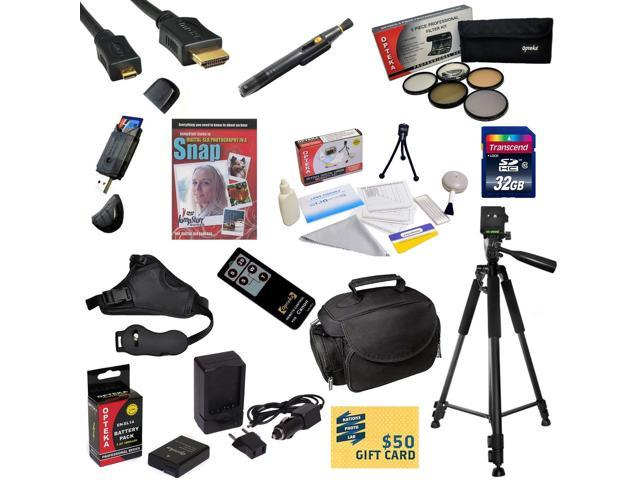 Must Have Kit for Nikon D5300 32GB SDHC Card, Card Reader, Battery, Charger, 67MM 5 Piece Pro Filter Kit, HDMI Cable, Gadget Bag, Remote Control, ...
