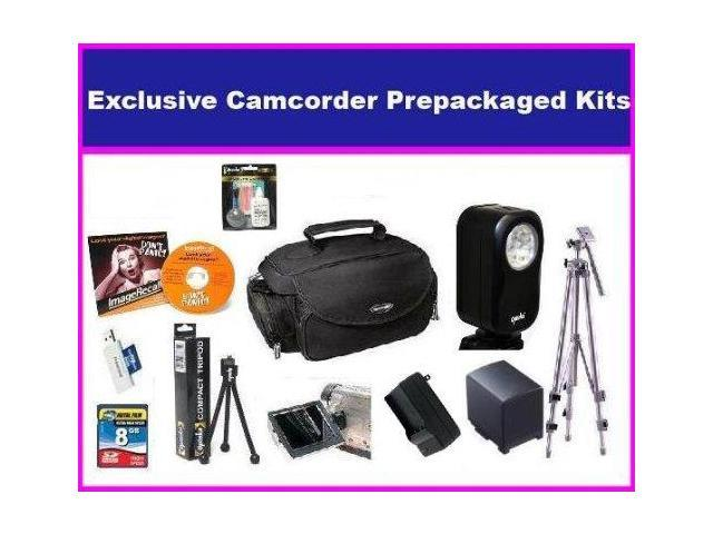 Essential Accessory Package For The Canon FS300 FS31 Package Includes 8GB Hi Speed SD Memory Card, Extended Life BP-808 Batttery & Rapid AC/DC ...