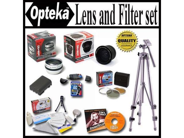 Opteka Ultimate Accessory package For The Canon Powershot G7 G9 Package Includes 0.35 Wide Angle Lens, 2.2X Telephoto Lens, Piece Filter Kit, ...