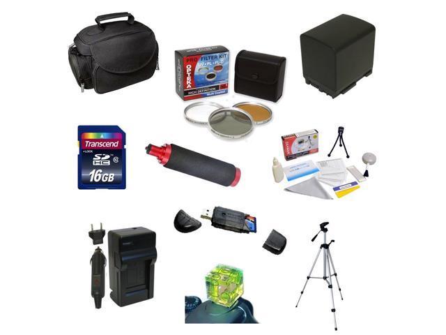 Best Value Accessory Kit For the Canon Vixia HF G10, HF G20, HF G30, HF S20, HF S21, HF S30, HF S200 Includes 16GB High ...