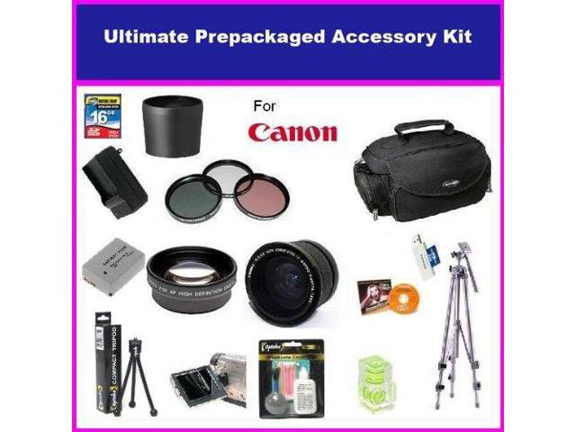 Opteka Ultimate Accessory package For The Canon Powershot G11 G10 Package Includes 0.35x Wide Angle Lens, 2.2X Telephoto Lens, 3 Piece Filter ...