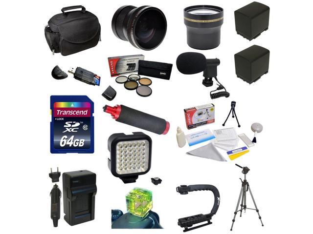 Advanced Accessory Package for the Canon Vixia HF G10, HF G20, HF G30, HF S20, HF S21, HF S30, HF S200 Includes 64GB High Speed ...