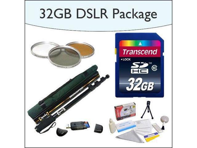32GB SDHC DSLR Package Including 32GB SDHC High Speed Memory Card, Opteka 67
