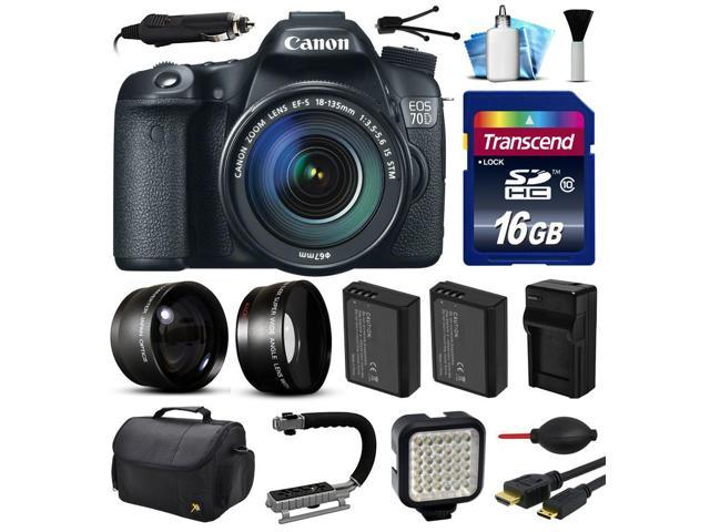Canon EOS 70D DSLR SLR Digital Camera with 18-135mm Lens (16GB Essential Bundle)