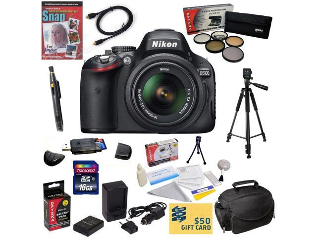 Nikon D5100 Digital SLR Camera with 18-55mm NIKKOR VR Lens With 47th Street Photo Best Value Accessory Kit: 16GB High-Speed SDHC Card + Card ...