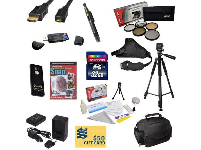 Must Have Kit for Nikon D50, D70, D80, D90 with 32GB SDHC Card, Extra Battery, Charger, 5 PC Filter Kit, HDMI Cable, Case, Remote, Tripod, ...