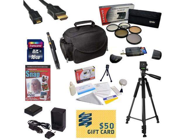 Best Value Kit for Nikon D7000 D7100 16GB SDHC Card, Card Reader, Battery, Charger, 67MM 5 Piece Pro Filter Kit, HDMI Cable, Padded Gadget Bag, ...