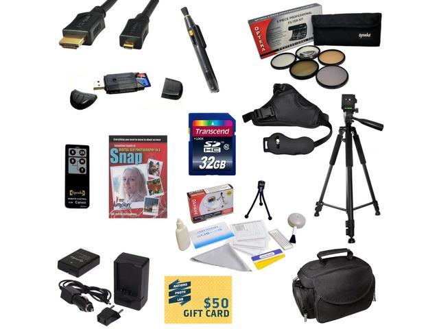 Must Have Kit for Nikon D100 D200 D300 D300s with 32GB SDHC Card, Battery, Charger, 5 Piece Pro Filter Kit, HDMI Cable, Padded Gadget Bag, ...