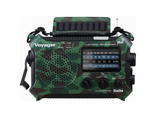 Katio KA500 Solar Crank Emergency Radio with AM FM NOAA Weather and Shortwave - Camoflage