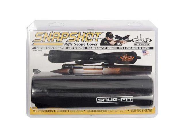 Snug Fit Snapshot Rifle Scope Cover, Large, Black SK1001BK
