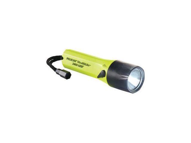 Pelican 2460 StealthLite Rechargeable Recoil LED Submersible Yellow Light +Fast