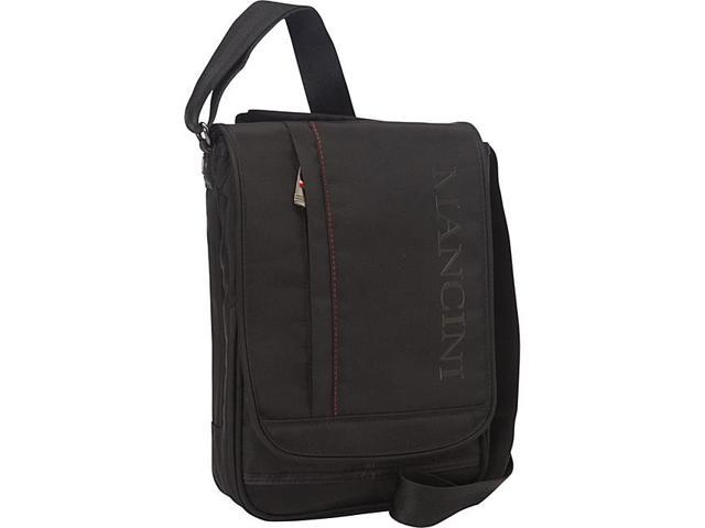 Mancini Leather Goods Messenger Style Unisex Bag for Tablet/ E-Reader with RFID Secure Pocket