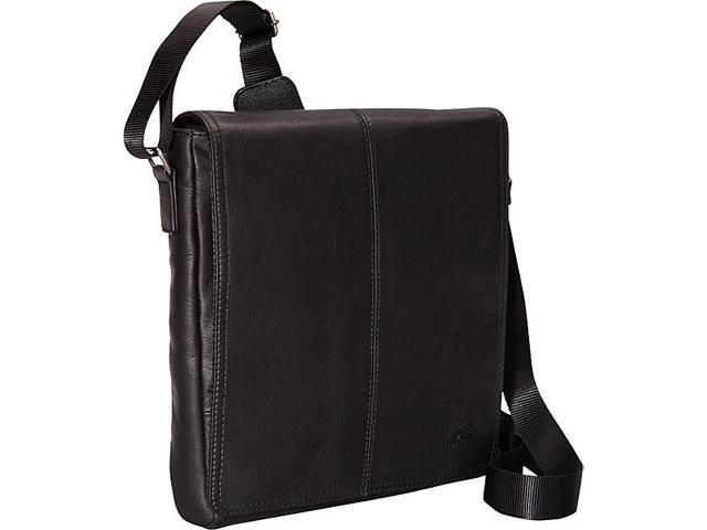 Mancini Leather Goods Colombian Leather Messenger Style Unisex Bag for Tablet/ E-reader