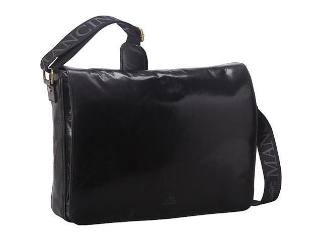 Mancini Leather Goods Laptop and Tablet Messenger Bag