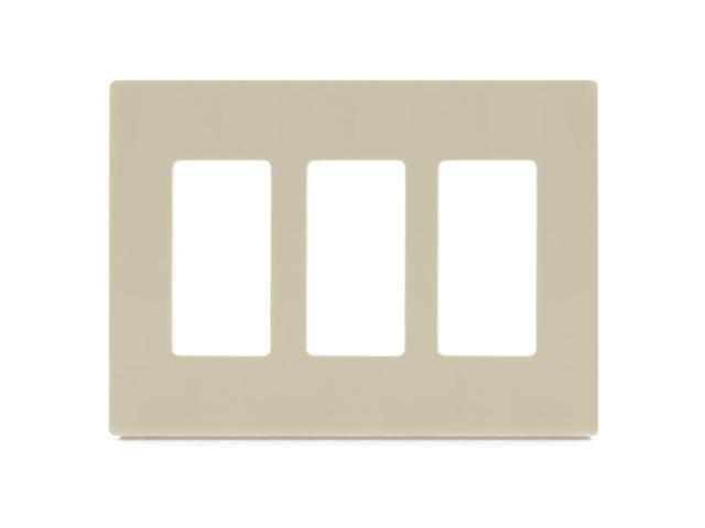 Aspire PJS263V 3-Gang Wall Plate - Ivory