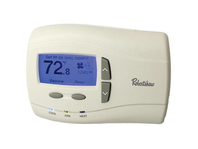 Robertshaw 9701i2 24-Volt AC 1 Heat / 1 Cool Deluxe Programmable Thermostat, SPD