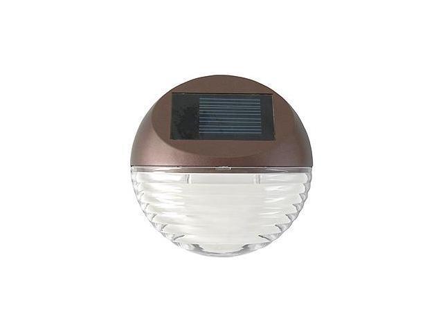 Moonrays 95027 Mini Solar Deck Light, Round