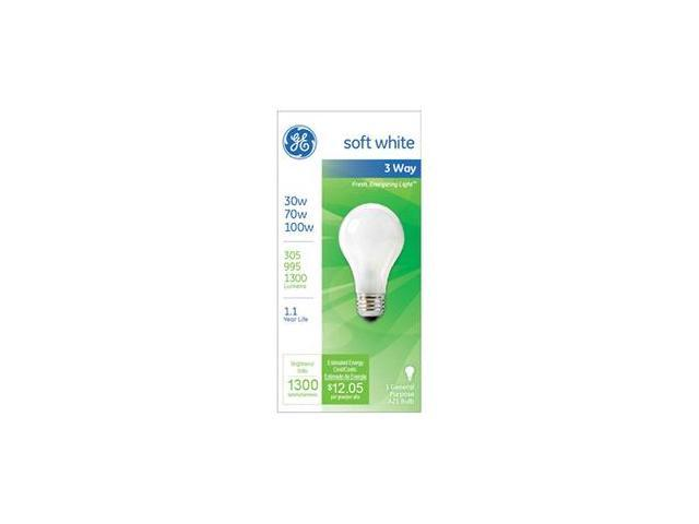 GE 30/100W SW 3WY Bulb, Pack of 12