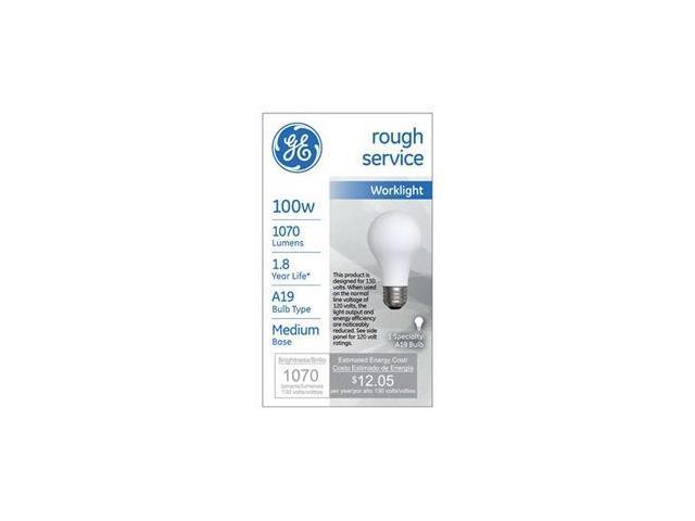 GE 100W Rough Serv Bulb, Pack of 12