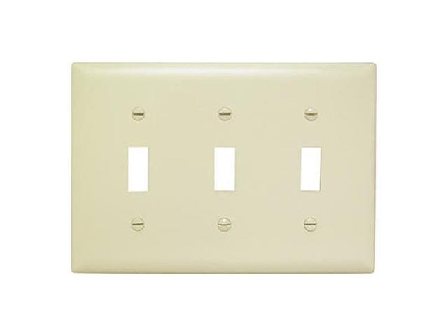 Wall Plate Plastic Three Gang Three Toggle Without Line, Ivory Pass and Seymour