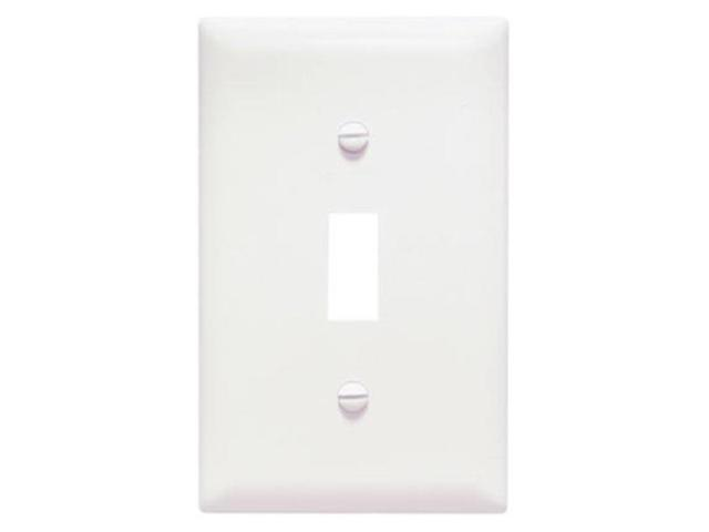 Plastic Wall Plate Jumbo One Gang Toggle Without Line, White Pass and Seymour