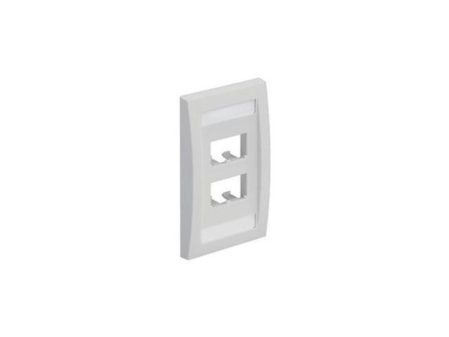 Faceplate, Single Gang, 4 Ports, White