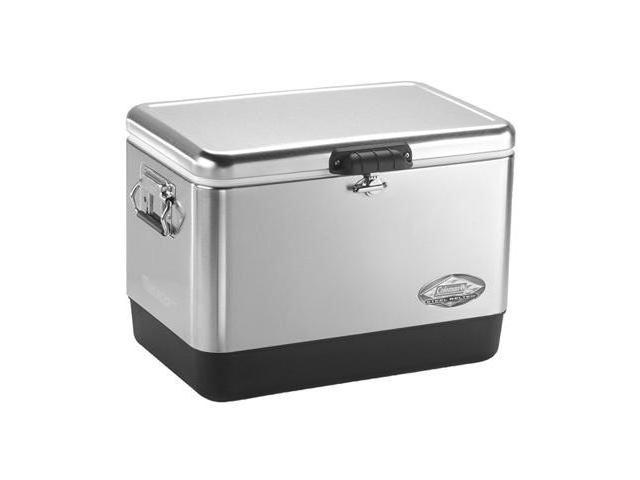 Coleman 54 Quart Stainless Steel Belted Cooler
