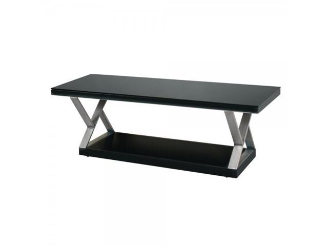 60 in. Double X-Frame Glass TV Stand - by Walker Edison